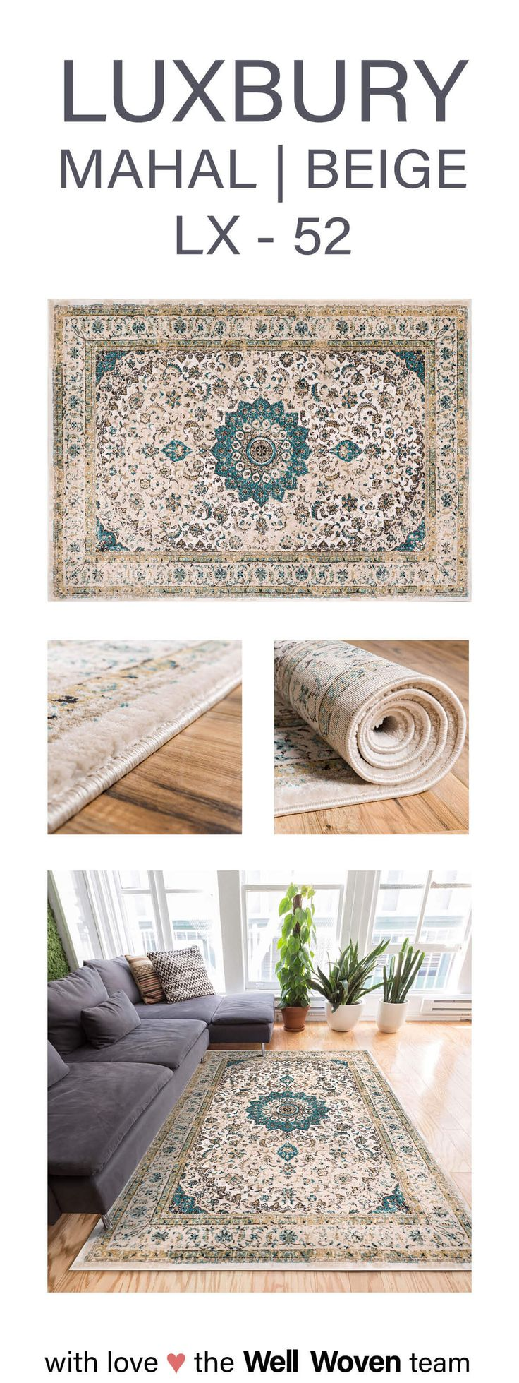Unique Luxbury is a collection that mixes the timeless classics of Oriental rug design with vintage looks