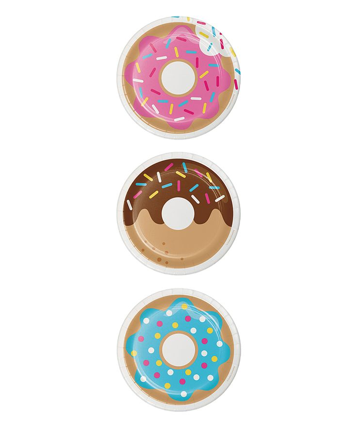 Sprinkle a party with extra sweetness using these donut-themed plates that are disposable for quick cleanup.