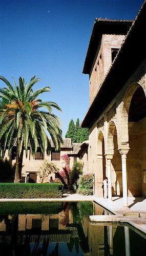Detalle  en  La Alhambra  Granada  Spain