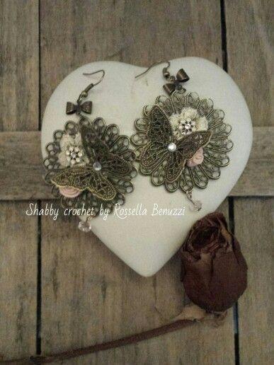 earrings butterflies and flowers