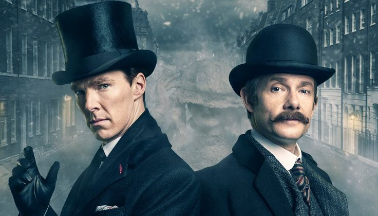 Οι Benedict Cumberbatch και Martin Freeman, πρωταγωνιστές του Sherlock που παίζεται τώρα στην τηλεόραση.