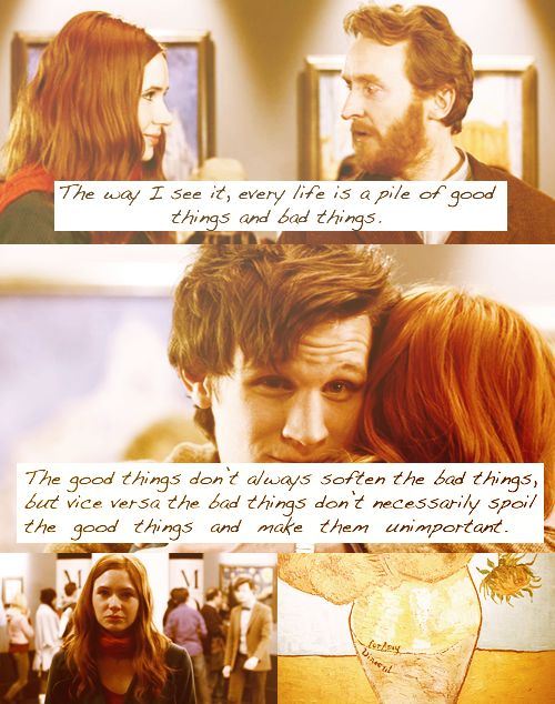 My favorite quote, from my favorite episode of Doctor Who.: Vincent Of Onofrio, Favorite Episode, Doctors Who Quotes, The Doctors, Doctorwho, Vincent Vans Gogh, Van Gogh, Dr. Who, Favorite Quotes