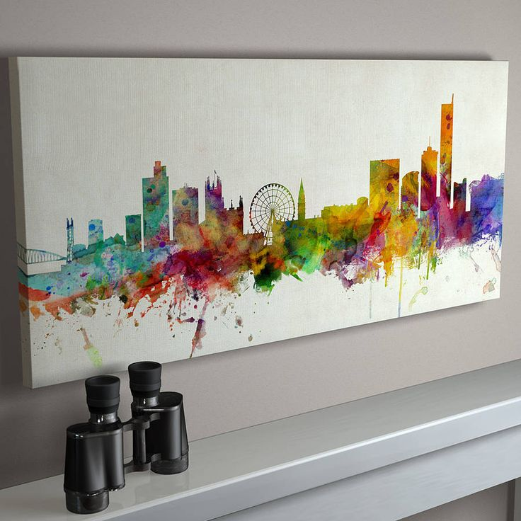 manchester england city skyline by artpause | notonthehighstreet.com