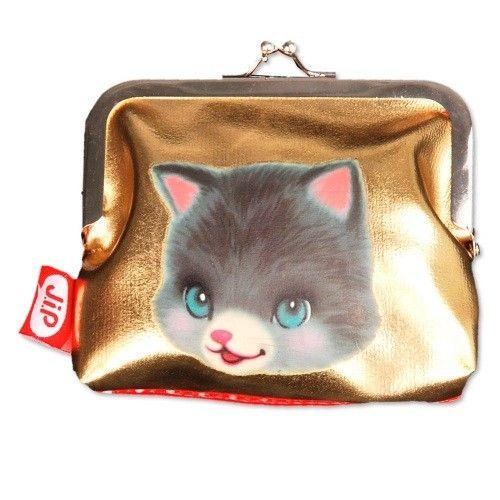 JIP portemonnee goud kat
