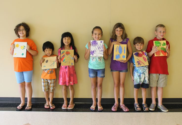 Children's Nature Painting Class at Town Hall.