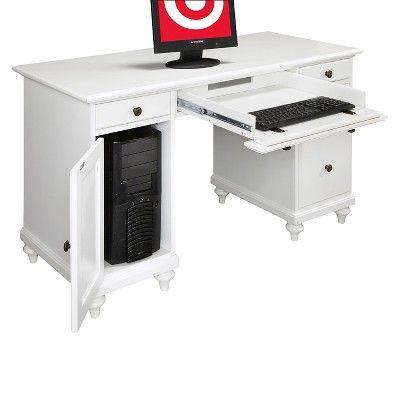 Bermuda Pedestal Desk White - Home Styles