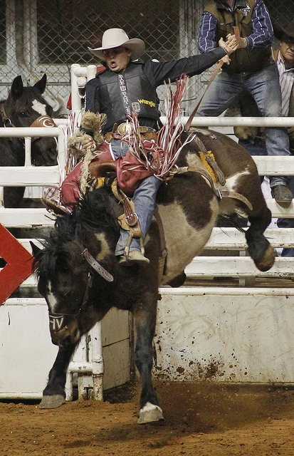 Jesse Wright scores a 81  in saddle bronc riding