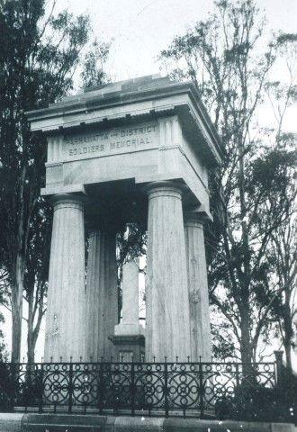 Parramatta Heritage: Boer War Memorial, Parramatta Park, 1904