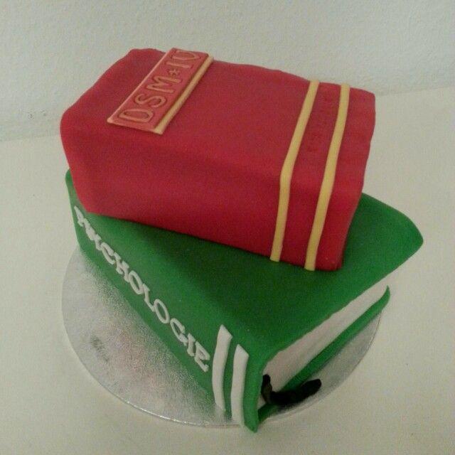 Psychology books cake / psychologie boeken taart
