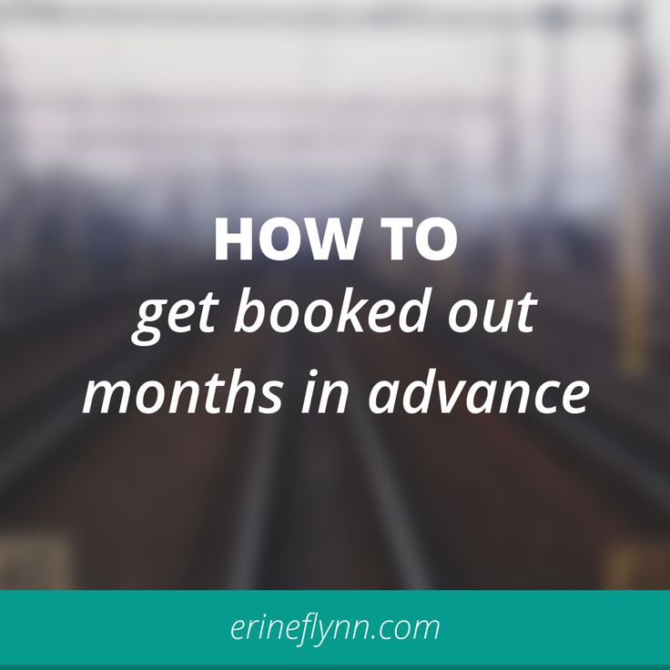 Great advice for service based businesses. How to get booked out in advance
