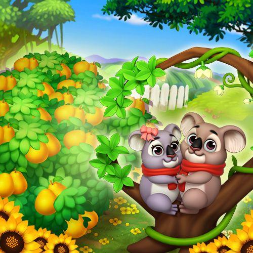 Two little koala bears sitting in the tree. K-i-s-s-i-n-g! <3 #royalstorygame #royalvalentines #love