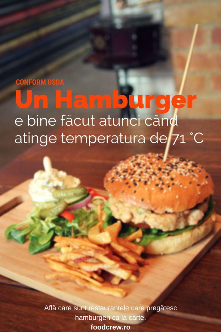 Burgerul perfect făcut e atunci când patty-ul atinge 71 °C.
