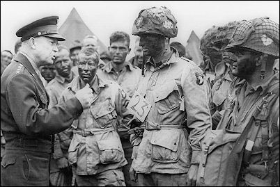 101st Airborne D-Day Casualties | ... photo: General Dwight Eisenhower and the 101st Airborne before D-Day