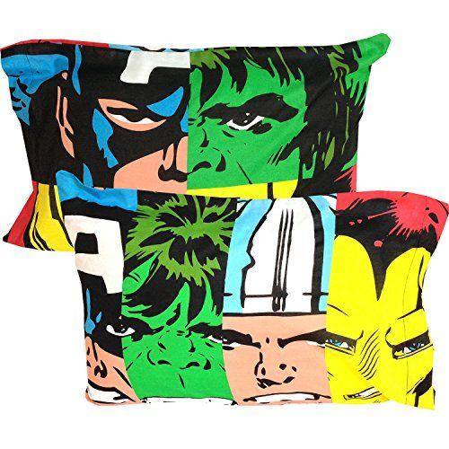 2pc marvel avengers pillowcase set classic comic book superheroes bedding pillow covers marvel http