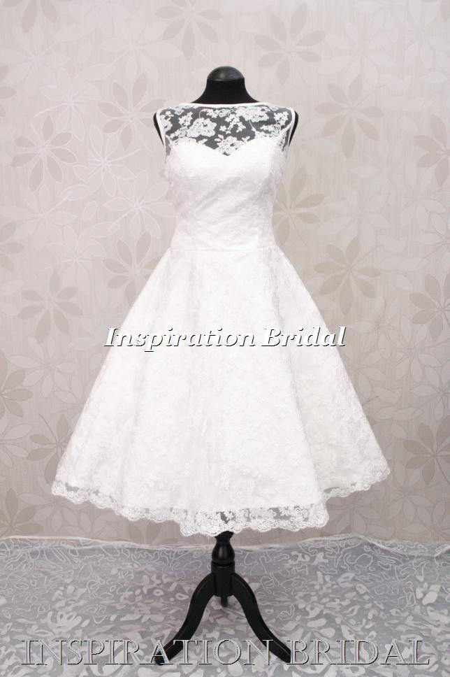 65 best Short 50s 60s Wedding Dress images on Pinterest | Short ...