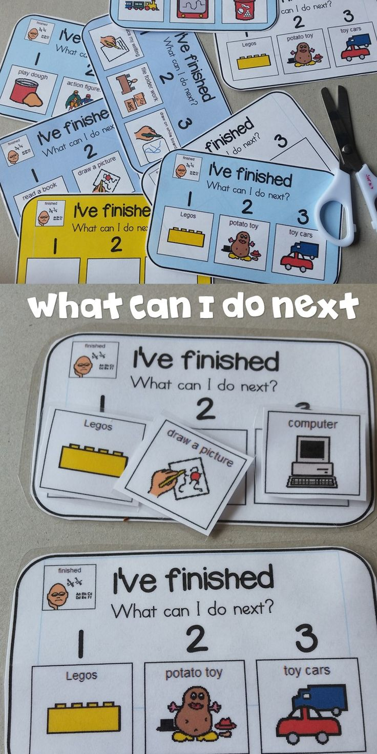 "I use these ""Finished Cards"" for my kiddos that finish their scheduled tasks early and need guidance then."
