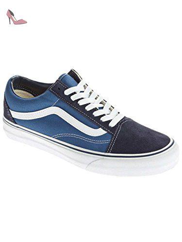 Vans - Chaussures , de toile - U OLD SKOOL NAVY - Taille EUR 44 - Couleur la Marine - Chaussures vans (*Partner-Link)