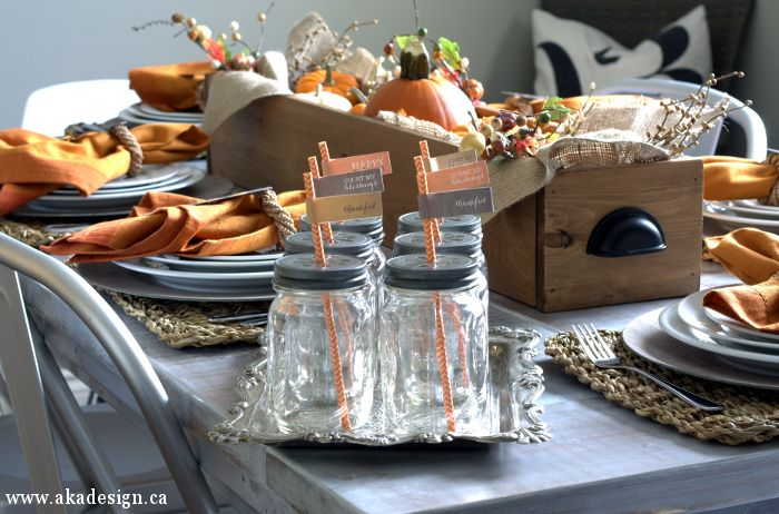 Thanksgiving Fall Table | Decorating - http://akadesign.ca/fall-table-thanksgiving-table/