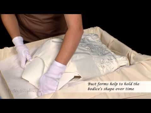 How to Preserve and Store Your Wedding Gown. Or ask the shop you purchased it from for help!