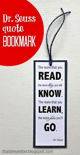 Bookmarks, Dr. seuss and Letter d on Pinterest