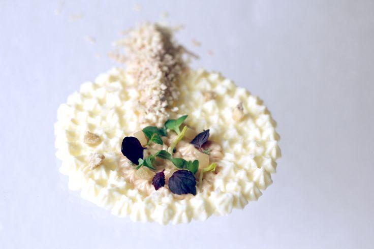 Dessert with almonds