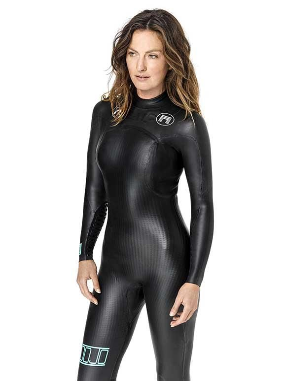 Nude pic of chic in wetsuit