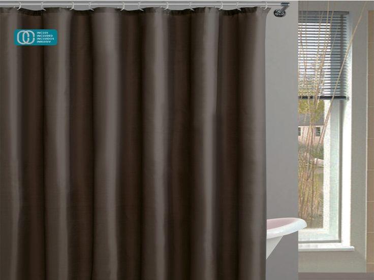 #cortinas #lisa #chocolate https://www.catayhome.es/categoria/cortinas-de-bano/