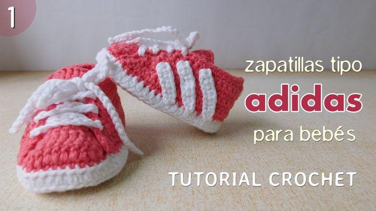 Zapatillas Adidas a crochet para bebé (Parte 1 de 2)                                                                                                                                                      More