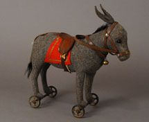 antique steiff donkey pull toy