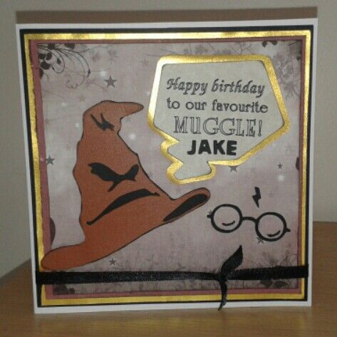 Harry Potter Themed Birthday Card Made Using Brother Scan N Cut