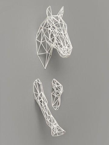 Equus,3D, 3-D, 3D printed, 3-D printed, Equus, equus, horse, Dominik Raskin, sculpture