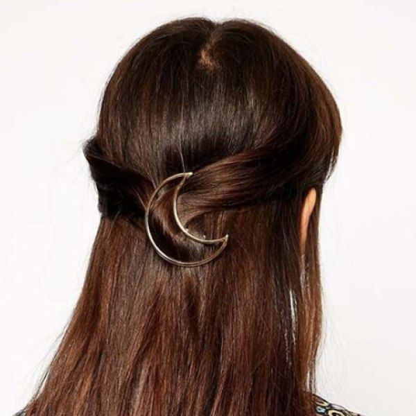 Chic Solid Color Moon Shape Women's Hairgrip, AS THE PICTURE in Hair Accessories | DressLily.com