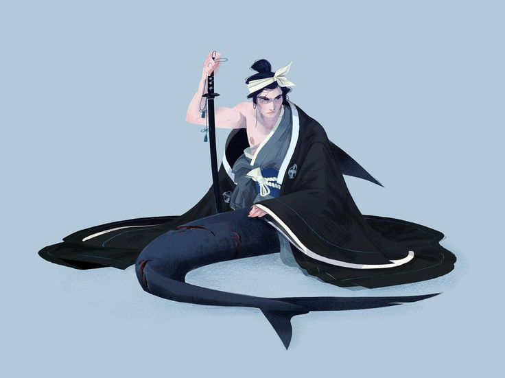 Winner of Character Design References Challenge (theme : mermaids and mermen) Art by Antoine Bonnet From: facebook.com/abcreationartistique