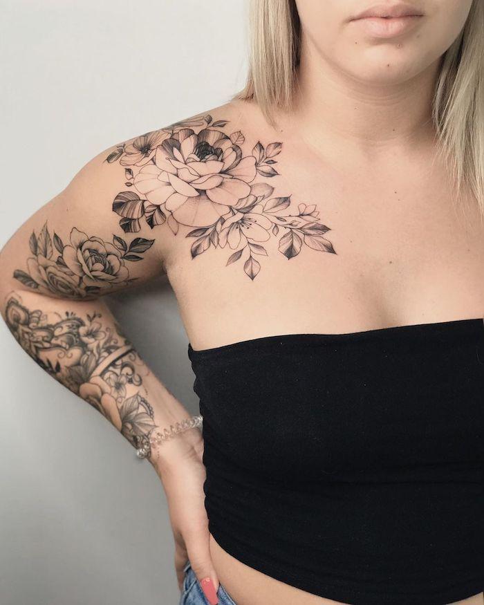 35 das mais belas Tatuagens no Ombro Feminino #tatuagensfeminina  #tatuagenspequenas #tatuagensfeminas #tatuagensfras…   Tatuagem ombro  feminina, Tatuagem, Tatuagens