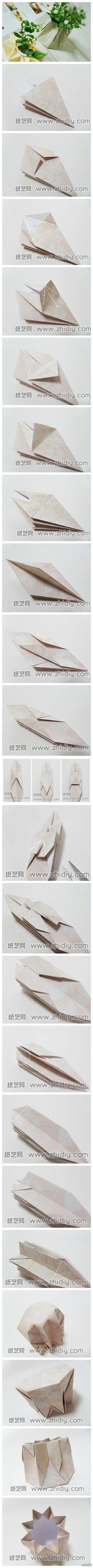 l'eleganza e semplicità del vaso origami!!!!