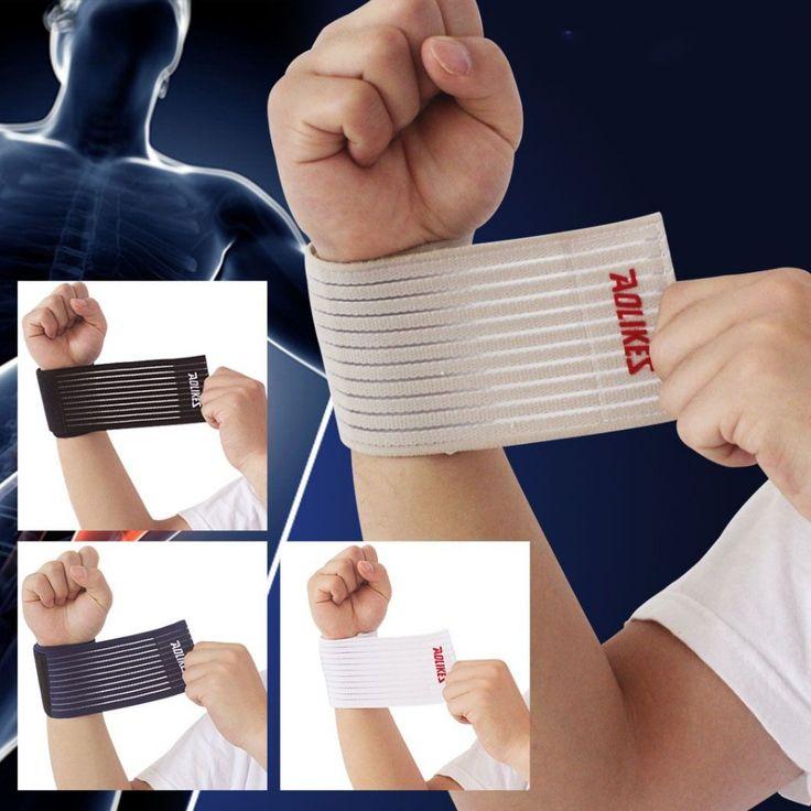 1 pair 40*7.5cm cotton elastic bandage hand sport wristband gym support wrist brace wrap fitness tennis polsini band munhequeira