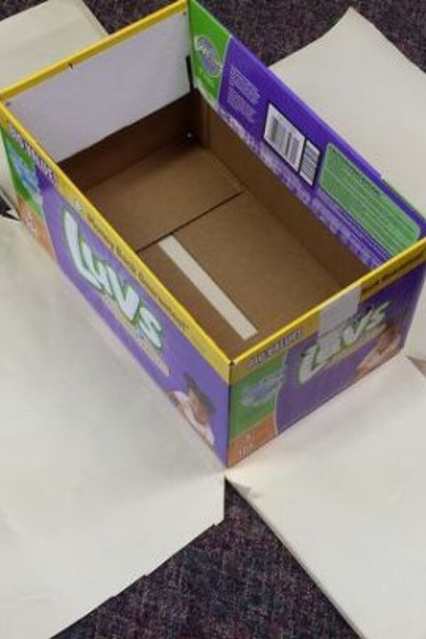 15 Creative Ways To Reuse A Cardboard Box Diy Ideas Cardboard Box Diy Diy Box Decor