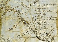 Three Forks of the Marias by William Clark. Lewis and Clark maps. WEEK 25