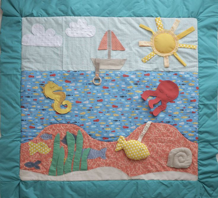 Tappeto sensoriale per neonati - Tema marino : Giochi, giocattoli di tapetite