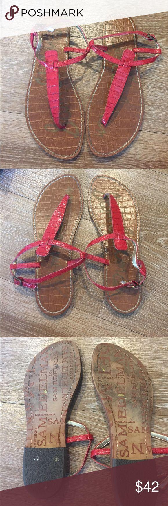 Sam Edelman GiGi Sandal Red Snake Skin Size 8 Sam Edelman GiGi Sandal Red Snake Skin Size 8. Sam Edelman's hottest summer Sandal. Good condition. So cute Sam Edelman Shoes Sandals