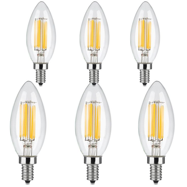 led chandelier bulbs simex 6w dimmable led decorative chandelier candle light bulb60 watt