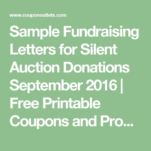 17 mejores ideas sobre Auction Donations en Pinterest - fund raising letters