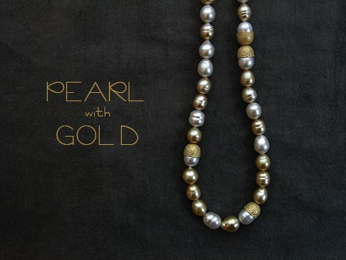 [Pearl Collection : 053] Necklace-K18YG/Pearl