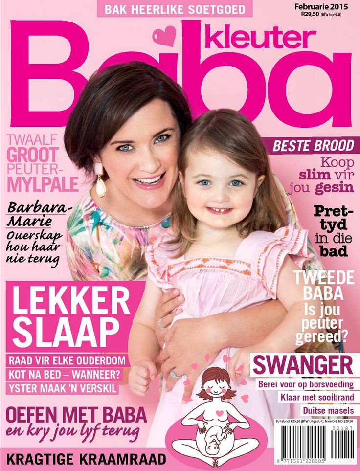 #LatestCover - Actress (and mom) Barbara-Marie Immelman share the February Baba & Kleuter cover issue! Read more on Barbara-Marie here http://alturl.com/pzkxx
