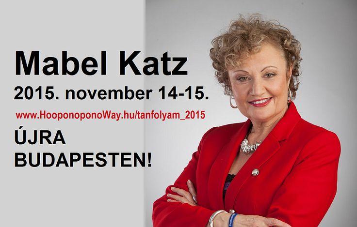 Mabel Katz immár hetedik alkalommal Budapesten! Azon kevesek egyike, akik engedéllyel és felhatalmazással oktatják az eredeti, tiszta hawaii Ho'oponopono problémamegoldó módszert. Dr. Ihaleakalá Hew Len tanítványaként és közvetlen munkatársaként a világ közel 40 országának majdnem 70 városában tartott már tréningeket, sok millió ember életét megváltoztatva.  Isten vezérelje és segítse az utadat!  Várunk novemberben! Minden info itt: http://bit.ly/1JiZgJE   ¯`•.¸¸.Ƹ̴Ӂ̴Ʒ Köszönöm ♡ Szeretlek…