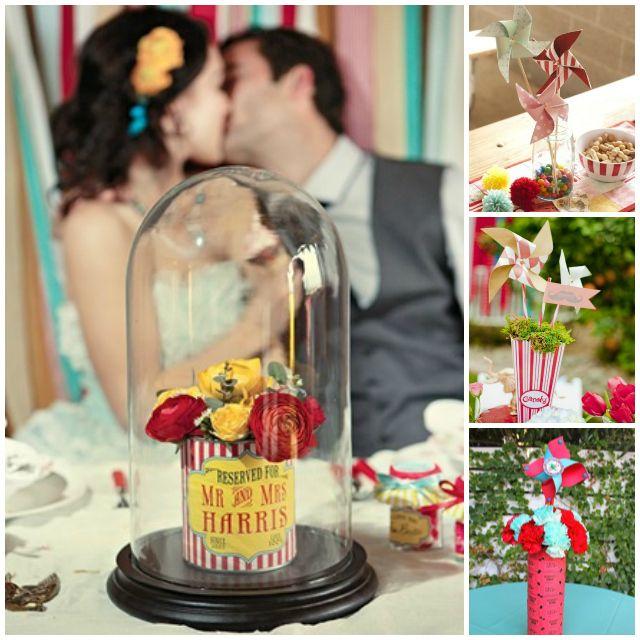 Ideas fir centerpieces Carnival Weddings | Wedding Decor ...