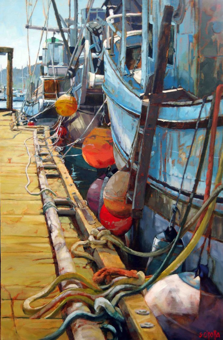 West Coat Fishing Boats by Susie Cipolla