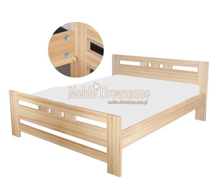Łóżko drewniane bukowe 140 [75] Meble Drewniane - meble sosnowe producent, łóżka, komody, witryny