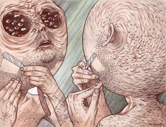 Yurex Omazkin es un artista mexicano que utiliza la ilustración como medio de expresión. A través de sus dibujos quiere provocar que en el espectador se active la imaginación para generar historias.    http://yurexomazkin.wordpress.com/