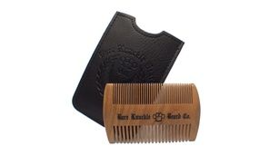 Groupon - Handcrafted two sided Wooden Beard Comb Made from Sandalwood . Groupon deal price: $18.99